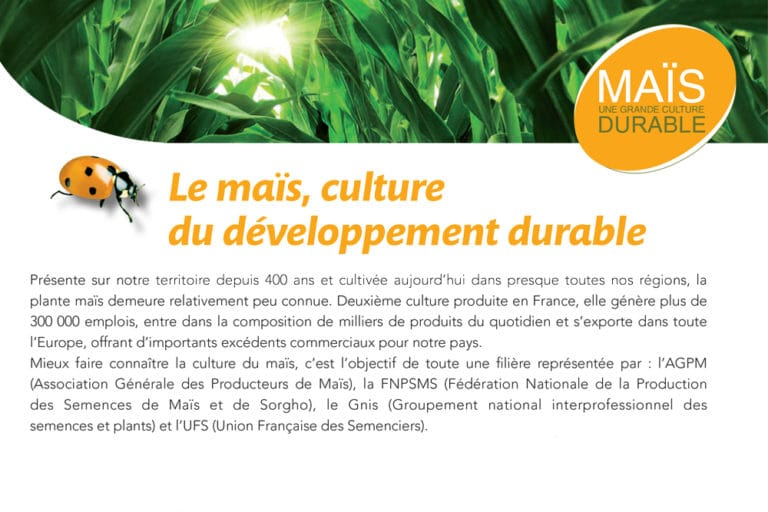 Brochure « Maïs Culture Durable »